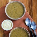 Грибной суп с цветной капустой и пармезаном