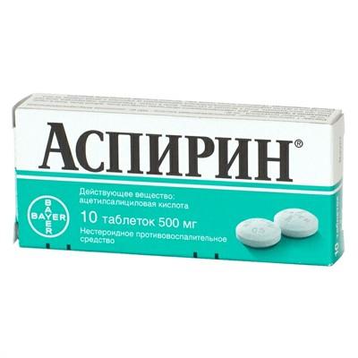 средство от болей в суставах аспирин
