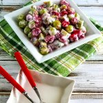 Красно-зеленый фруктовый салат